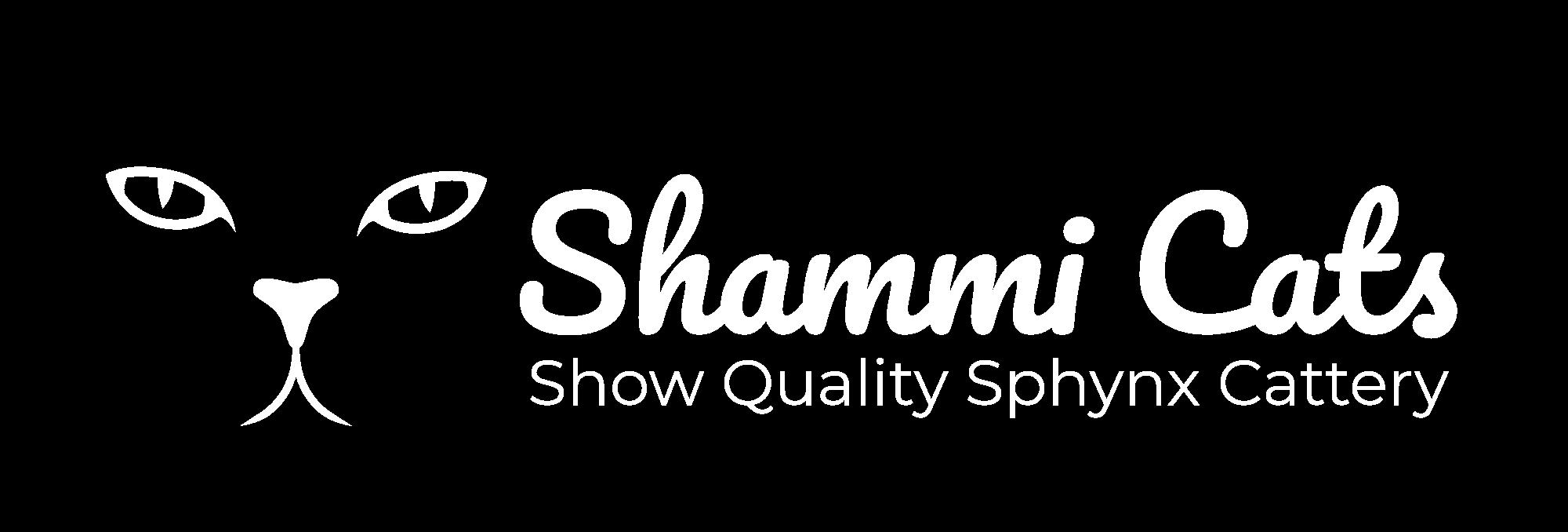 Shammi Sphynx Cats - white logo